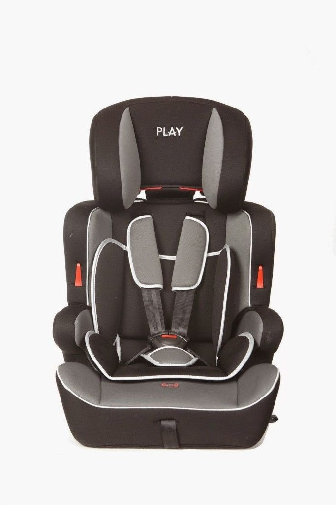 Play Safe Ten - Silla de coche grupo 1/2/3, color negro y gris
